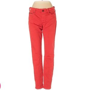 Bright red GAP skinny jeans - Size 25